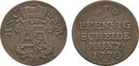 Ku.-Pfennig 1770. SACHSEN Ernst Friedrich, 1764-1800. Sehr schön.  20,00 EUR