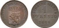 Pfennig 1868. HESSEN Ludwig III., 1848-1877. Sehr schön-vorzüglich.  10,00 EUR  zzgl. 4,50 EUR Versand