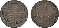 Ku.-Pfennig 1868. SACHSEN Ernst II., 1844-1893. Sehr schön +.  15,00 EUR  zzgl. 4,50 EUR Versand