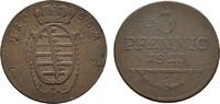 Ku.-3 Pfennig 1823. SACHSEN Ernst I., 1806-1826. Sehr schön-vorzüglich.  45,00 EUR  zzgl. 4,50 EUR Versand