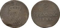 Ku.-2 Pfennig 1823. BAYERN Maximilian I. (IV.) Joseph, 1799-1806-1825. ... 20,00 EUR  zzgl. 4,50 EUR Versand