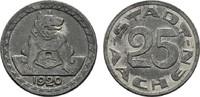 25 Pfennig 1920. RHEINPROVINZ  Sehr schön.  10,00 EUR  zzgl. 4,50 EUR Versand