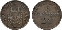 Ku.-3 Pfennig 1860 A BRANDENBURG-PREUSSEN Friedrich Wilhelm IV., 1840-1... 10,00 EUR  zzgl. 4,50 EUR Versand
