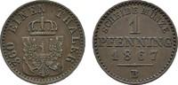 Ku.-Pfennig 1867 B BRANDENBURG-PREUSSEN Wilhelm I., 1861-1888. Sehr sch... 4,00 EUR  zzgl. 4,50 EUR Versand