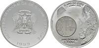 2000 Dobras - 1 Euro 1999. ST. THOMAS Republik seit 1975. Stempelglanz  22,00 EUR  zzgl. 4,50 EUR Versand