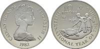 10 Dollars 1982. CAYMAN ISLANDS Elizabeth II. seit 1952. Polierte Platte  22,00 EUR  zzgl. 4,50 EUR Versand