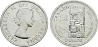 1 Dollar 1958 KANADA Elizabeth II. seit 1952. Stempelglanz  22,00 EUR  zzgl. 4,50 EUR Versand