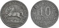 10 Pfennig 1918. BRAUNSCHWEIG  Etwas fleckig, Fast vorzüglich.  4,00 EUR  zzgl. 4,50 EUR Versand