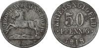 50 Pfennig 1918. BRAUNSCHWEIG  Flecken. Sehr schön +.  8,00 EUR  zzgl. 4,50 EUR Versand