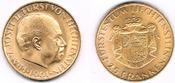 25 Franken 1961 Liechtenstein Goldmünze 25...