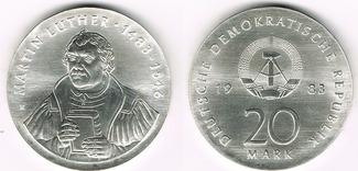 20 Mark 1983 Deutsche Demokratische Republ...