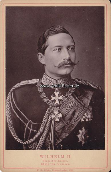 Original Lichtdruck/wilhelm Ii Deutscher Kaiser, König von Preussen 1