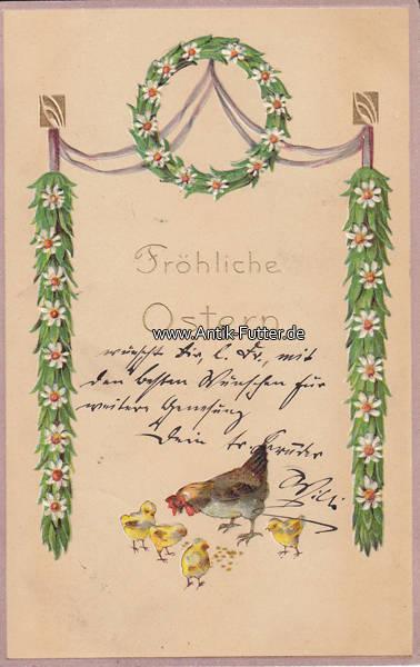 1911 deutsches reich ansichtskarte postkarte pr gekarte fr hliche ostern 2 3 m nzen. Black Bedroom Furniture Sets. Home Design Ideas