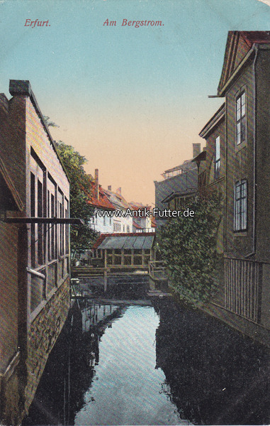 Ansichtskarte / Postkarte / Erfurt Am Bergstrom 1912