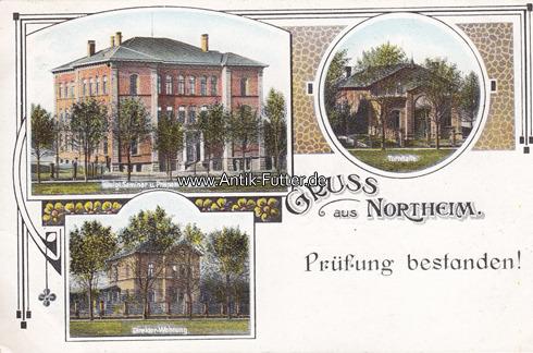 Ansichtskarte / Postkarte / Gruss aus Northeim /prüfung bestanden!/tu