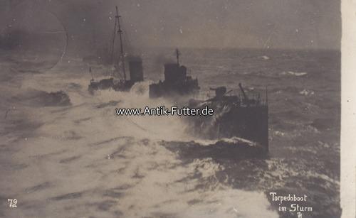 Fotokarte/torpedoboot im Sturm Deutsches Reich 1912