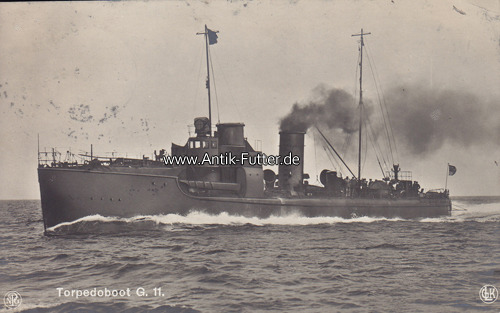 Ansichtskarte / Postkarte / Torpedoboot G 11 Deutsches Reich 1913