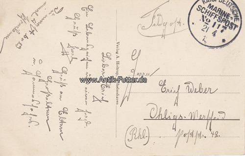 Ansichtskarte / Feldpost / Marine-schiffspost No 117/4 Torpedoboots-h