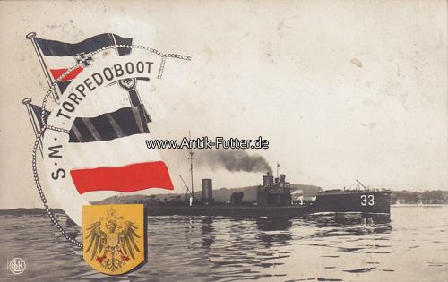 Ansichtskarte / Postkarte / S M Torpedoboot Deutsches Reich 1913