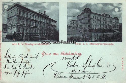 Ansichtskarte/gruss aus Reichenberg 1899