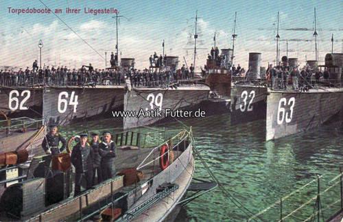 Reklamekarte Orientalische Tabakfabrik Venidze / i / Torpedoboote an