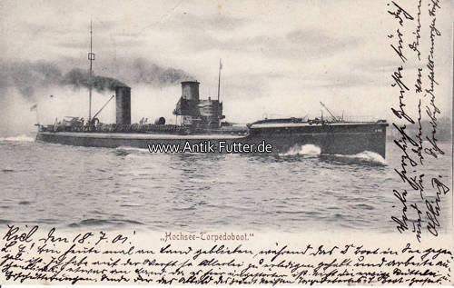 Ansichtskarte / Hochsee-torpedoboot / i Deutsches Reich 1901