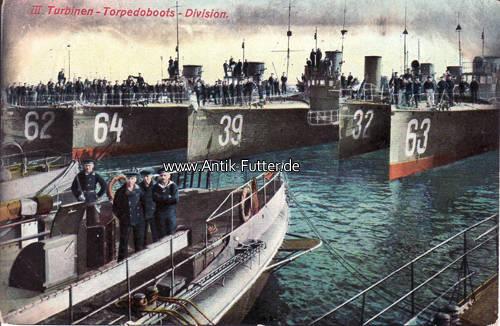 Ansichtskarte/postkarte/iii Turbinen Torpedoboots Division Deutsches