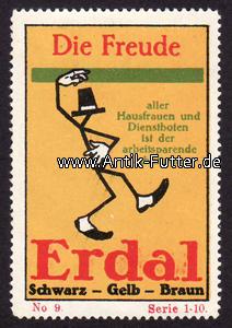 Reklamemarke/erdal/schwarz Gelb Braun/die Freude Deutsches Reich O J