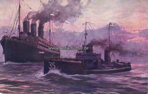 Künstlerkarte/wohlfahrtskarte der Reichs-spende/deutsches Torpedoboot