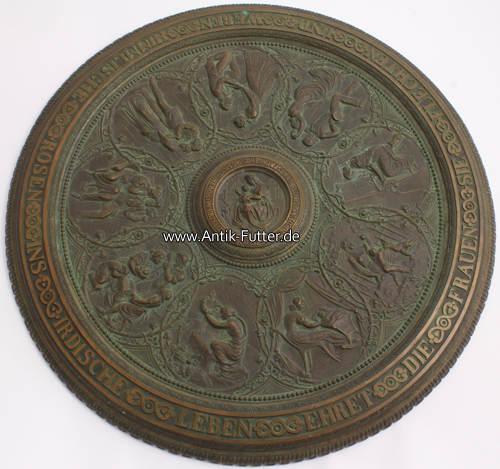 Wandteller/prunkteller/bronze/kunstguss/lauchhammer Deutsches Reich 1