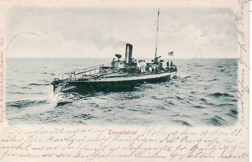 Ansichtskarte/torpedoboot Deutsches Reich 1901