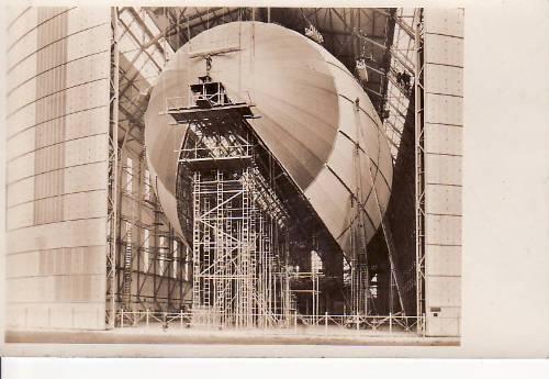 Ansichtskarte/lz 129 in Bau Drittes-reich um 1935