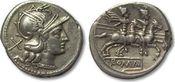 AR denarius after 211 B ROMAN REPUBLIC ano...