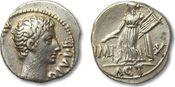 AR denarius 15-13 B.C. ROMAN EMPIRE August...
