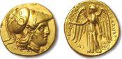 AV gold stater 310-300 B.C. ANCIENT GREECE...