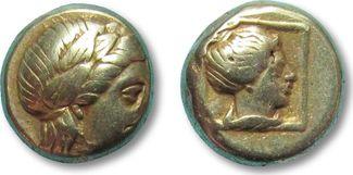 EL Hekte 375-326 B.C ANCIENT GREECE Lesbos...