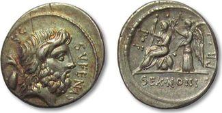 AR Denarius 59 B.C. ROMAN REPUBLIC M. Noni...
