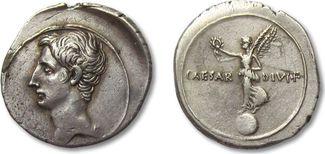 AR Denarius 32-29 B.C. ROMAN REPUBLIC Octa...