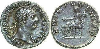 AR Denarius 100 AD Imperial TRAJANUS, Rome...