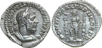 AR Denarius 217 AD Imperial MACRINUS, Rome...