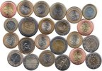 23x DIFFERENT UNC BI-METALLIC COINS unz  76,00 EUR  + 12,00 EUR frais d'envoi