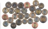 27x DIFFERENT UNC BI-METALLIC COINS unz  90,00 EUR  + 12,00 EUR frais d'envoi