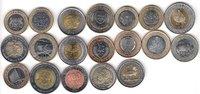 AFRICA 19x DIFFERENT UNC BI-METALLIC COINS unz  62,00 EUR  + 12,00 EUR frais d'envoi