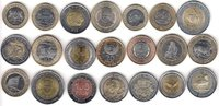 AFRICA 21x DIFFERENT UNC BI-METALLIC CO...