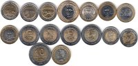 NORTH & SOUTH AMERICA 16x DIFFERENT UNC BI-METALLIC COINS unz  40,00 EUR  + 12,00 EUR frais d'envoi