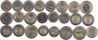 NORTH & SOUTH AMERICA 24x DIFFERENT UNC BI-METALLIC COINS unz  65,00 EUR  + 12,00 EUR frais d'envoi