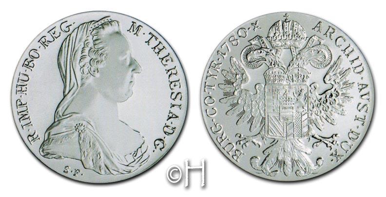 Maria Theresia Österreich Taler Nachprägung 1780 Np Silber