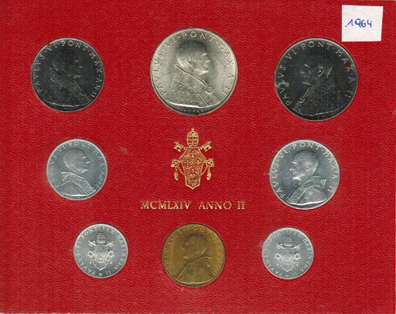 Paul Vi (1963 1978) Vatikan Kms (lira 500 Lire) 1964