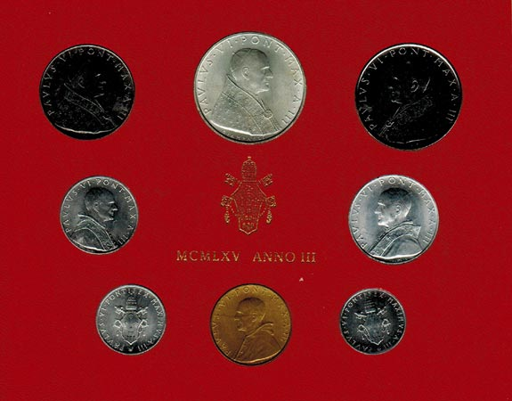 Paul Vi (1963 1978) Vatikan Kms (lira 500 Lire) 1965
