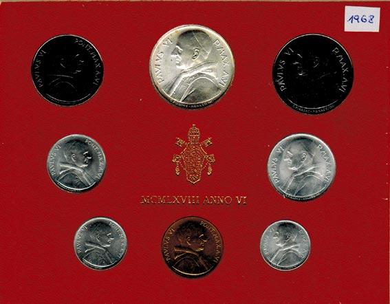Paul Vi (1963 1978) Vatikan Kms (lira 500 Lire) 1968